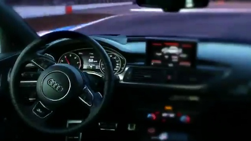 Кадр из тизера Audi RS7 Piloted Driving Concept