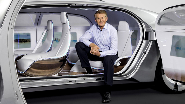 Салон робокара Mercedes-Benz F 015 Luxury in Motion