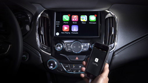 Apple CarPlay на Chevrolet Cruze 2016