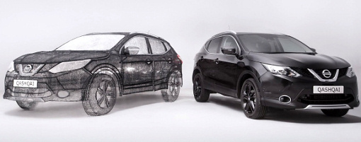 Копию Nissan Qashqai напечатали с помощью 3D-ручки
