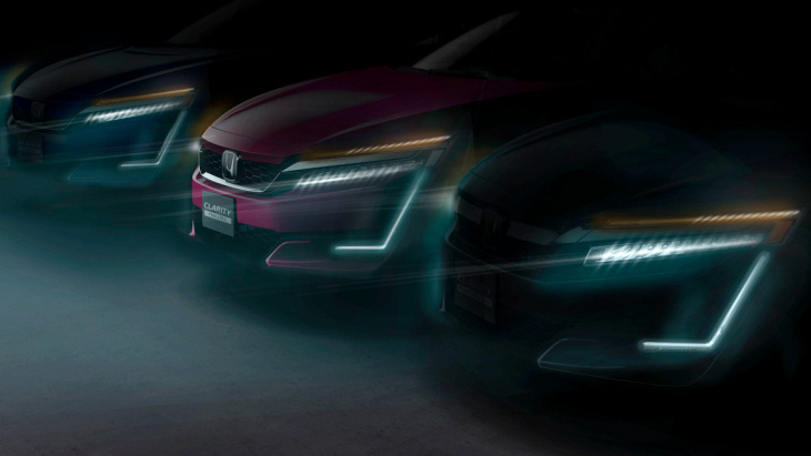 Тизер Honda Clarity Electric, Clarity Fuell Cell и Clarity Plug-In Hybrid