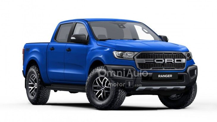 Рендер экстремального пикапа Ford Ranger Raptor
