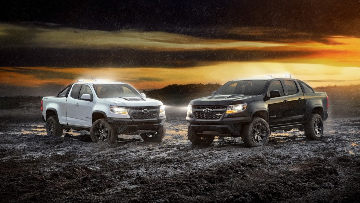 Пикапы Chevrolet Colorado ZR2 Dusk Edition и Chevrolet Colorado ZR2 Midnight Edition