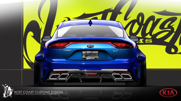 «Заряженный» лифтбек KIA Stinger GT by West Coast Customs
