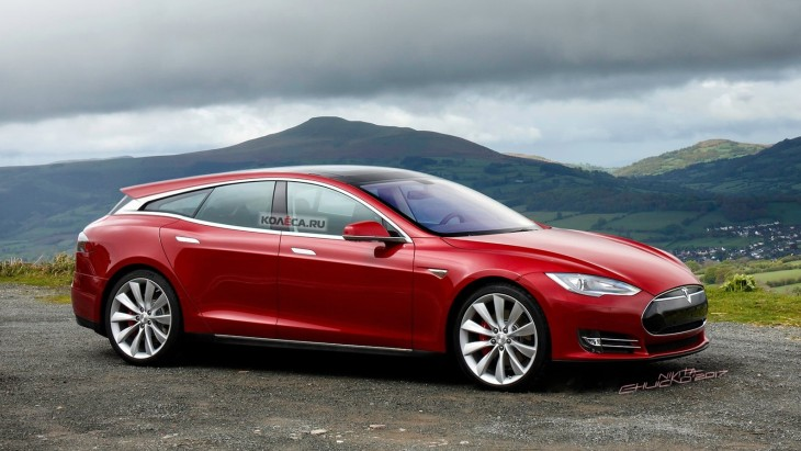 Независимый рендер универсала Tesla Model S Shooting Brake
