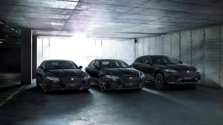 Jaguar XE Black Edition, Jaguar XF Black Edition и Jaguar F-Pace Black Edition