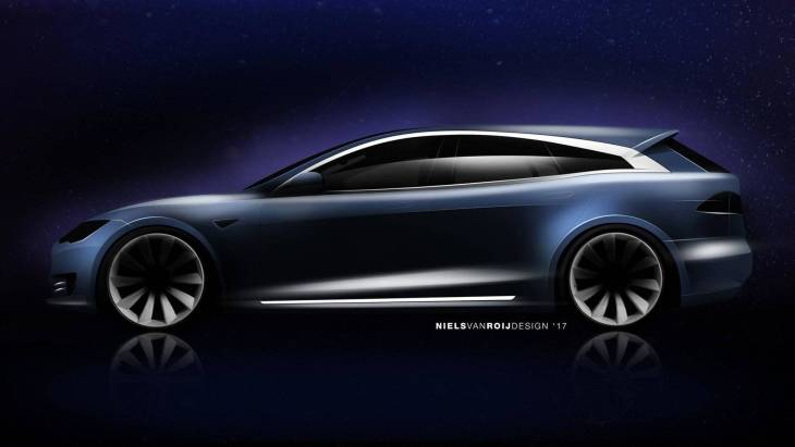 Тизер универсала Tesla Model S Shooting Brake