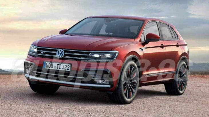 Купеобразный кроссовер VW Tiguan Coupe R-Line (рендер)