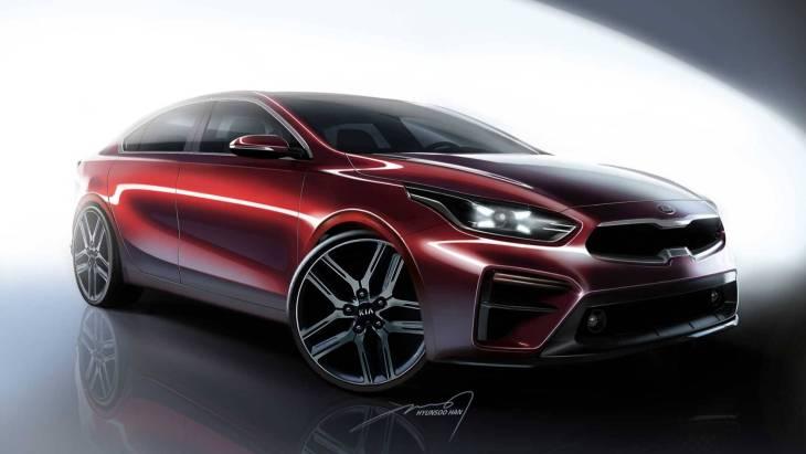 Официальный скетч KIA Forte Sedan 2019 модельного года