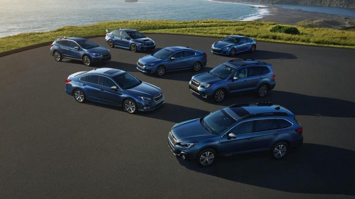 Автомобили Subaru юбилейной серии 50th Anniversary