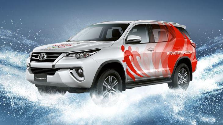 Внедорожник Toyota Fortuner для лучшего российского олимпийца