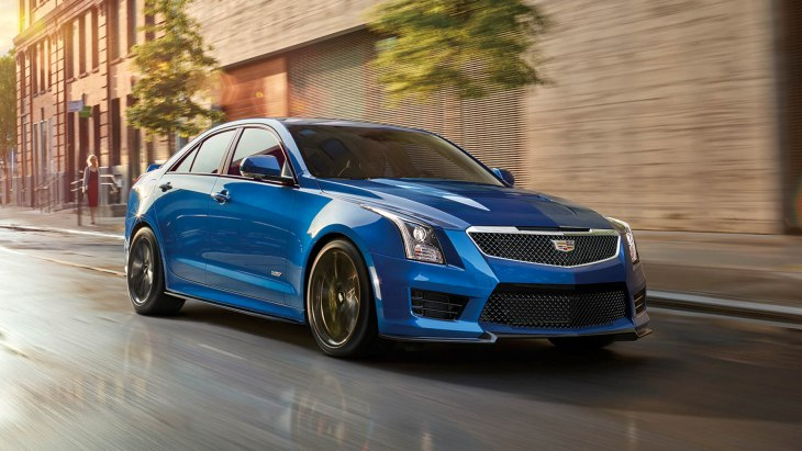 «Заряженный» седан Cadillac ATS-V Vector Blue Edition