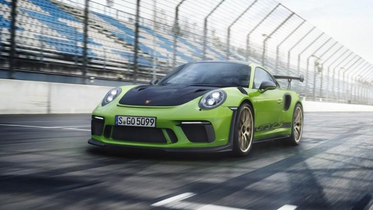 Обновлённое купе Porsche 911 GT3 RS 2018 модельного года