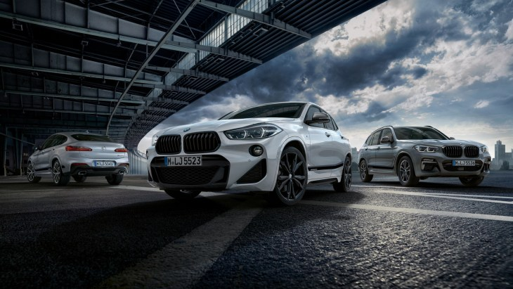 Кроссоверы BMW X2, X3 и X4с пакетом M Performance