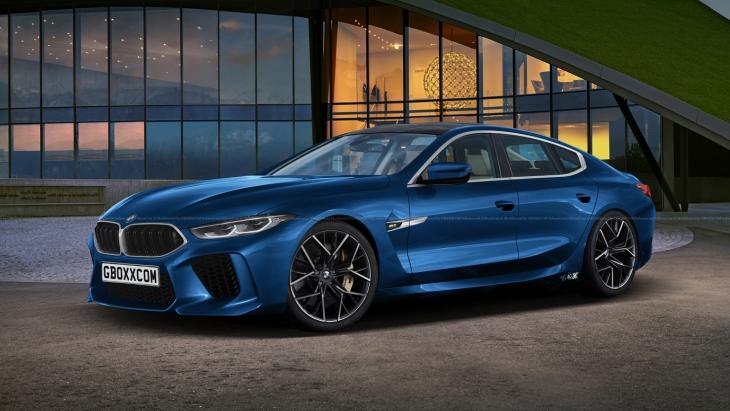 Независимый рендер серийного BMW M8 Gran Coupe