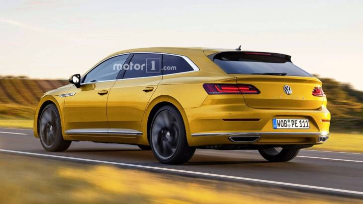 Независимый рендер универсала Volkswagen Arteon Shooting Brake