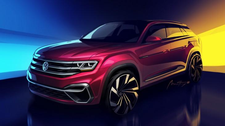 Дизайнерский скетч пятиместного внедорожника Volkswagen Atlas