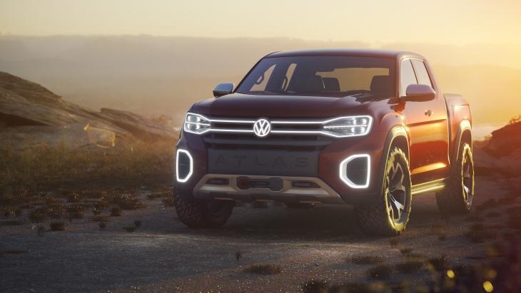 Концептуальный пикап Volkswagen Atlas Tanoak Pickup Truck Concept