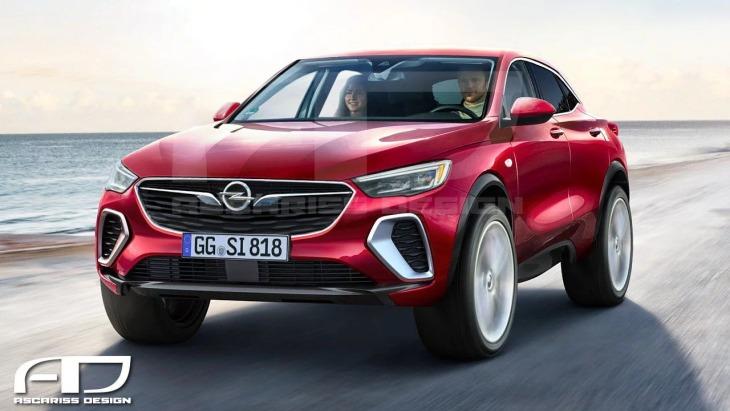 Рендер нового флагманского кроссовера Opel