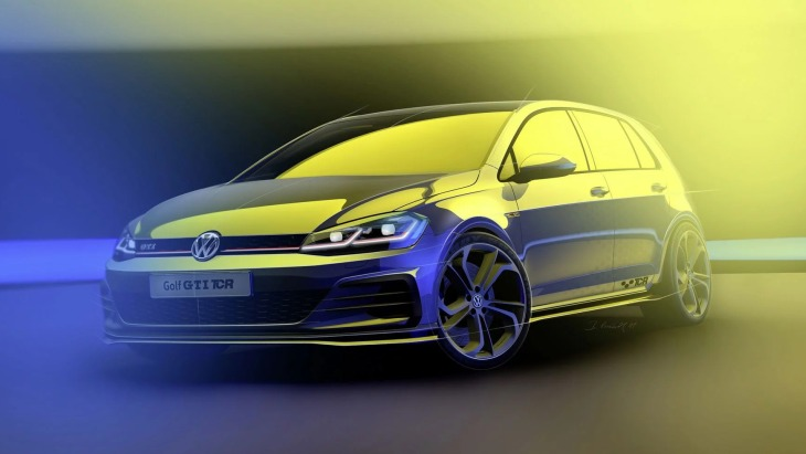 Скетч «заряженного» Volkswagen Golf GTI TCR