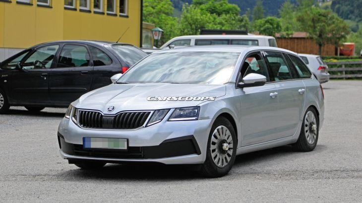 Тестовый мул модели Skoda Octavia нового поколения
