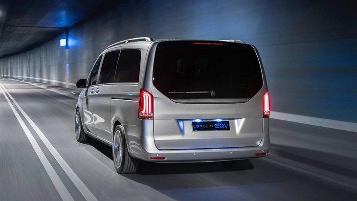 Электрический микроавтобус V-Class от Mercedes начнут продавать осенью 2019 года
