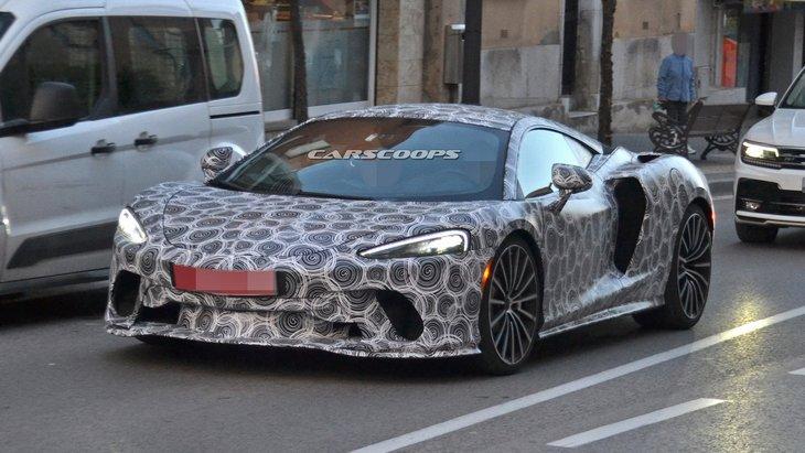 Новые шпионские снимки будущего уникального Grand Tourer от McLaren